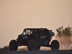 deviant offroad can-am driving at dusk