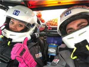 Driver and Co-Driver inside of Deviant Offroad UTV