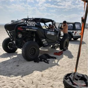 tuning up deviant offroad canam in the race pits